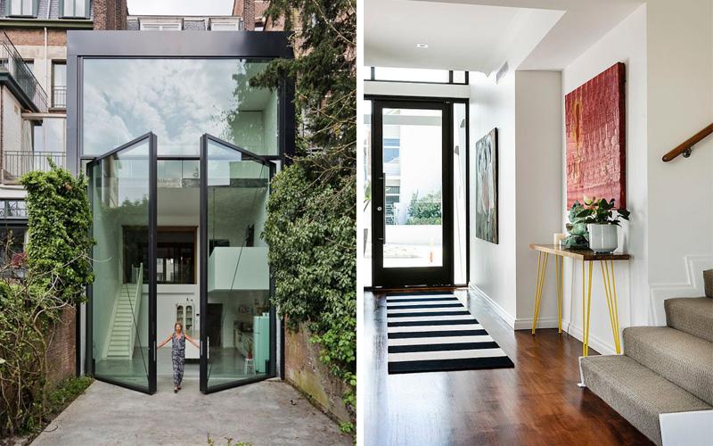 idee deco porte d entr e menuiserie. Black Bedroom Furniture Sets. Home Design Ideas