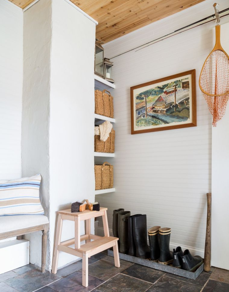 am nagement couloir entr e menuiserie. Black Bedroom Furniture Sets. Home Design Ideas