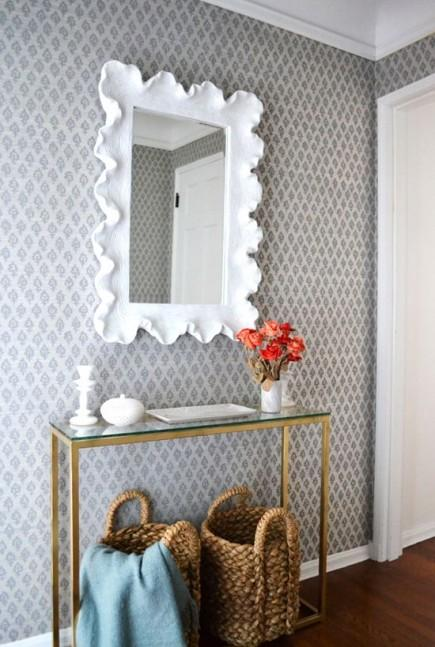 papier peint hall d entr e menuiserie. Black Bedroom Furniture Sets. Home Design Ideas