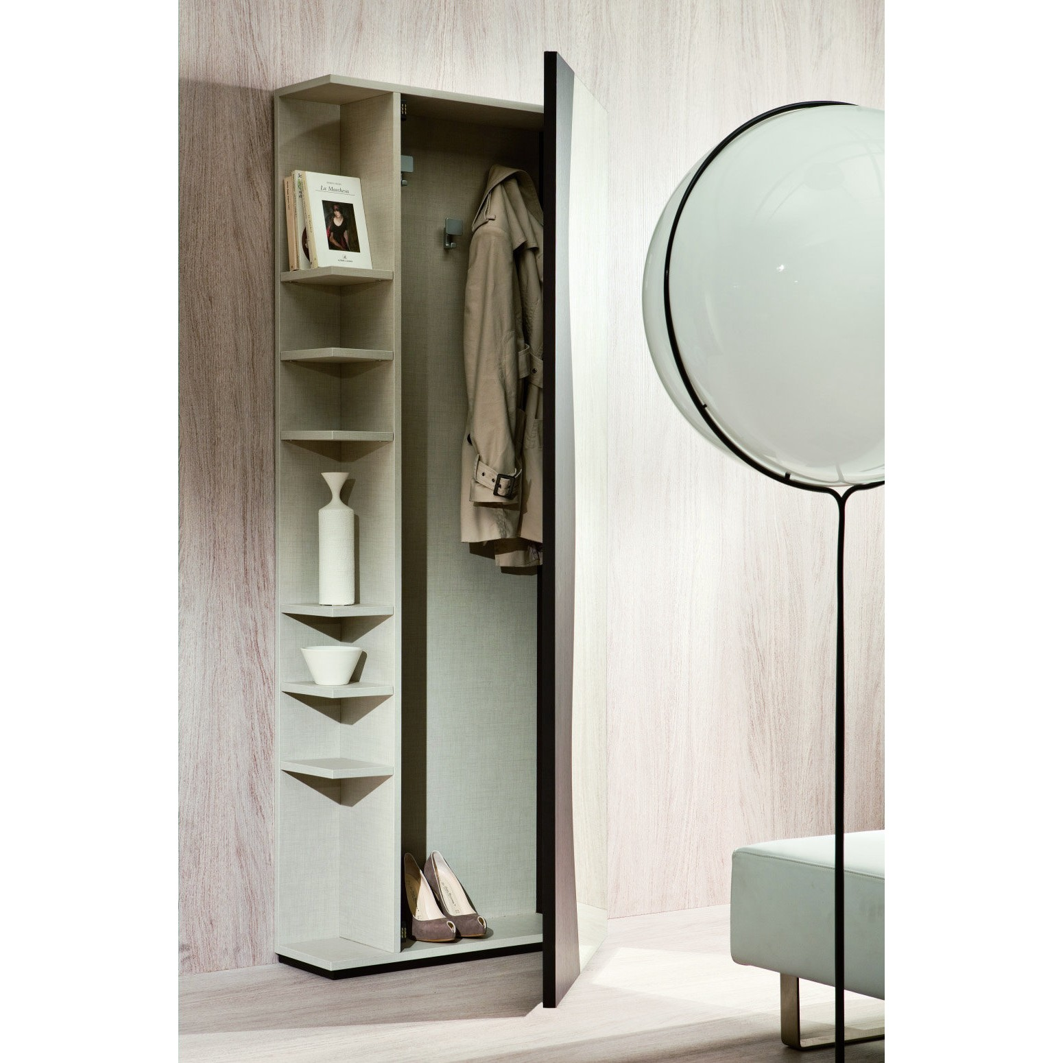 miroir porte manteau entree menuiserie. Black Bedroom Furniture Sets. Home Design Ideas
