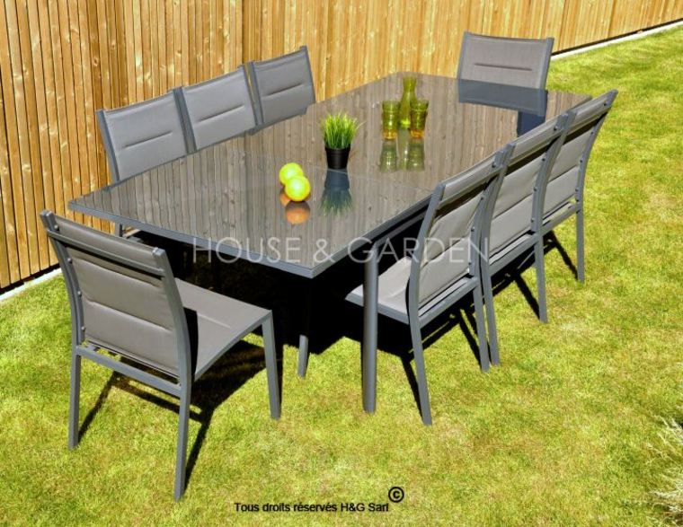 table salon de jardin pas cher menuiserie. Black Bedroom Furniture Sets. Home Design Ideas