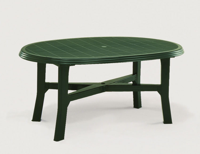 Table jardin verte menuiserie for Salon de jardin plastique
