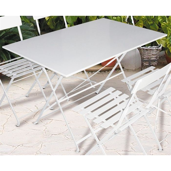 Table jardin metal pliante menuiserie - Table pliante aluminium ...