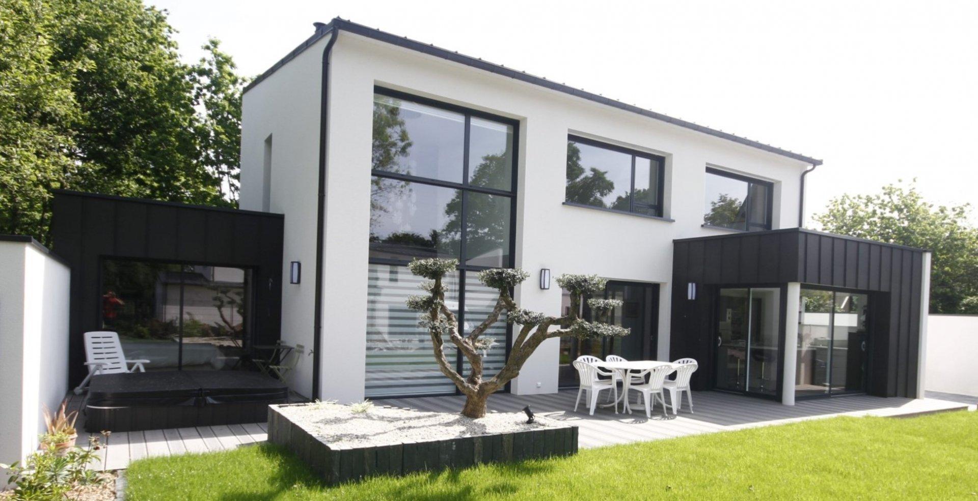 Prix construction maison contemporaine menuiserie for Prix menuiserie