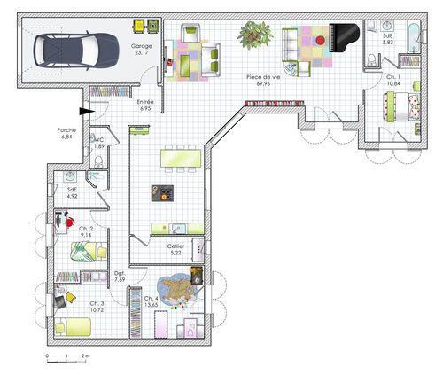 Perfect Plan Maison Plain Pied 120m2 3 Chambres