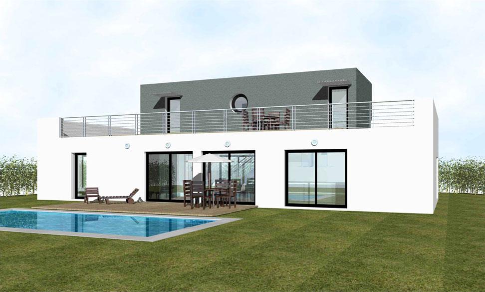 Hervorragend Prix maison moderne toit plat - Menuiserie CS51