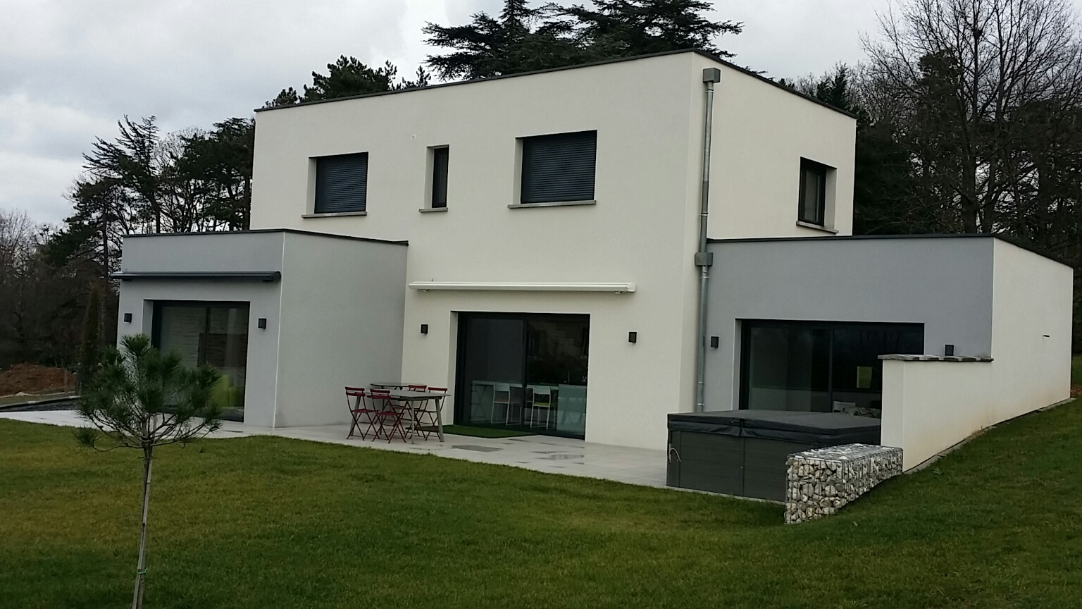 Maison contemporaine toit plat tarif for Tarif maison construction