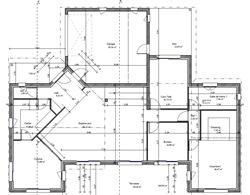 Plan maison moderne 160m2 menuiserie for Maison moderne 160m2