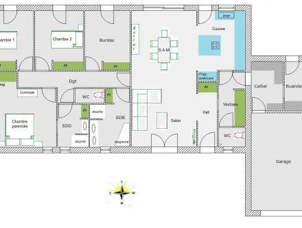 Plan Maison Mitoyenne Plain Pied Plan Maison Mitoyenne Plain Pied