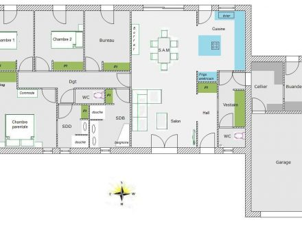 Plan Maison Mitoyenne Plain Pied  Ides Dcoration Intrieure