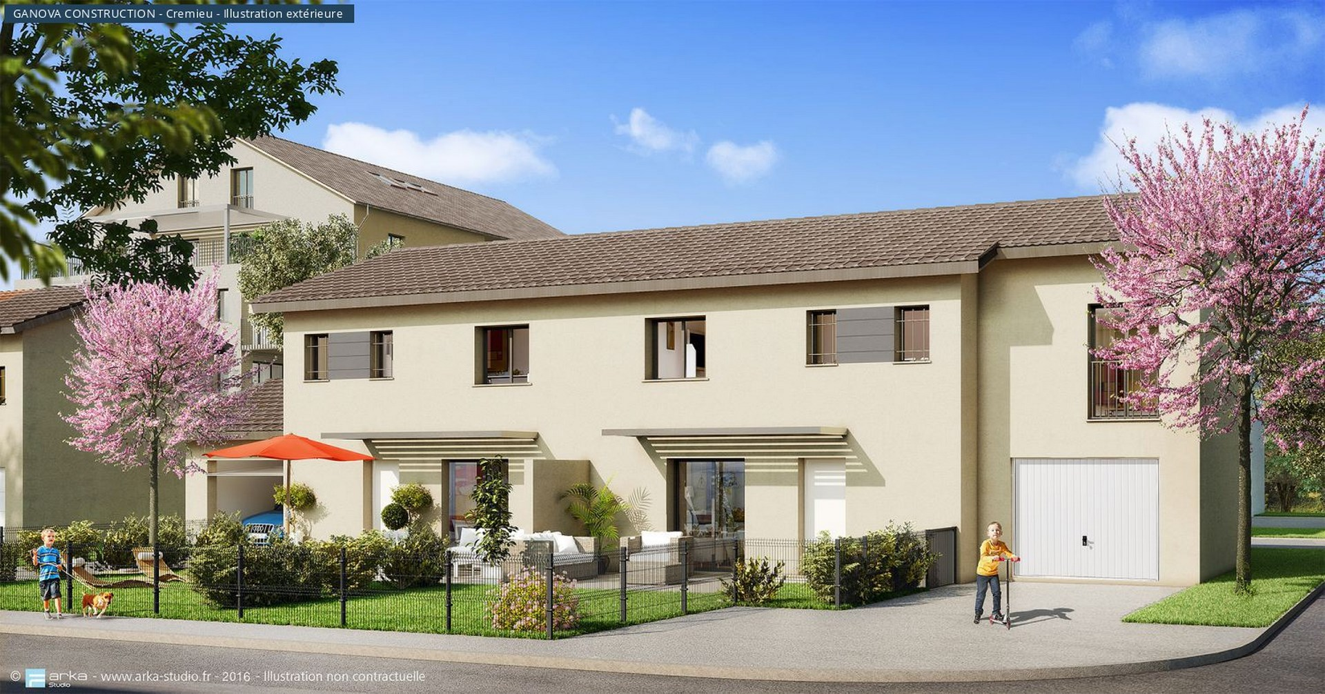 Prix construction maison contemporaine m2 menuiserie - Prix amenagement jardin au m2 ...
