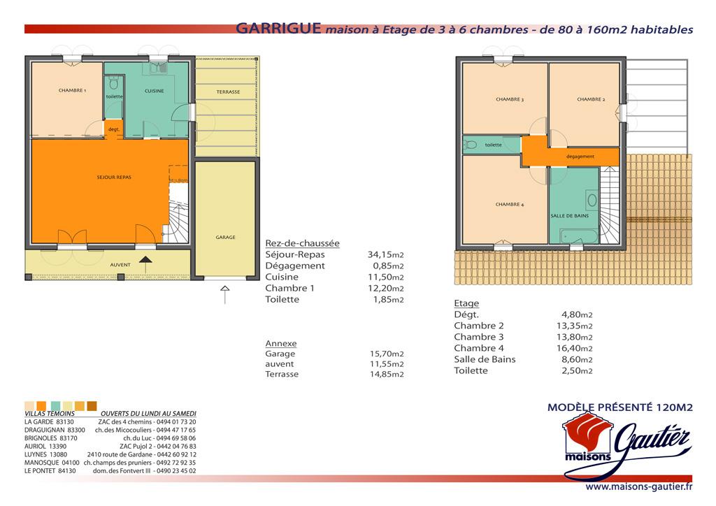 Plan Maison A Etage  Menuiserie