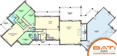 Plan Maison 5 Chambres Plain Pied Menuiserie For Plan Maison 5 Chambres