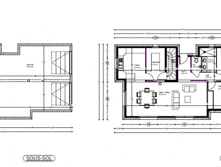 Great plan maison plain pied avec sous sol with plan de for Plan de maison avec sous sol