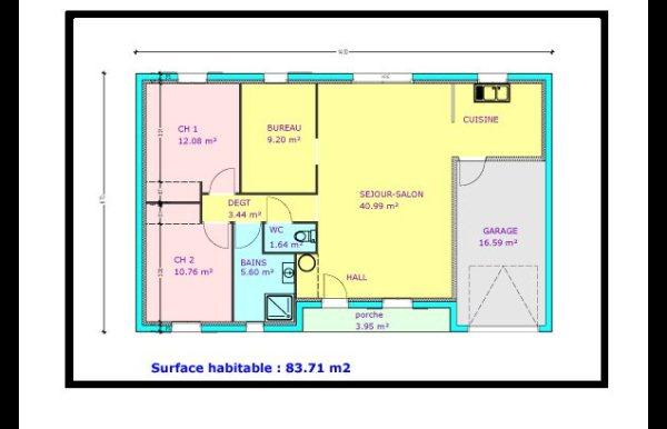 Plan De Maison  Chambres Plain Pied  Menuiserie