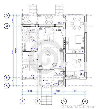 les plans architecturaux des maisons - Plan Architecturale De Maison