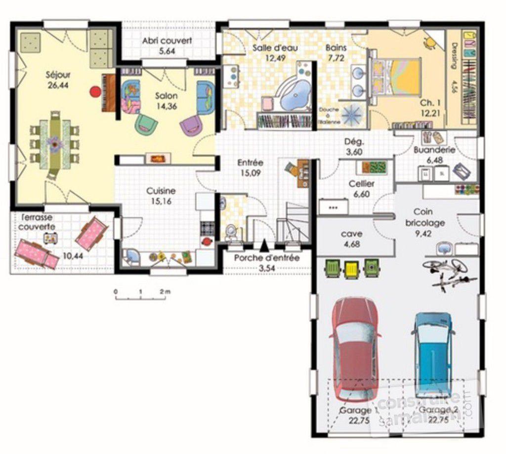 plan de maison sans etage
