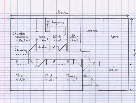 Beautiful Plan Maison Plain Pied Chambres With Plan De Maison Plain Pied  110m2