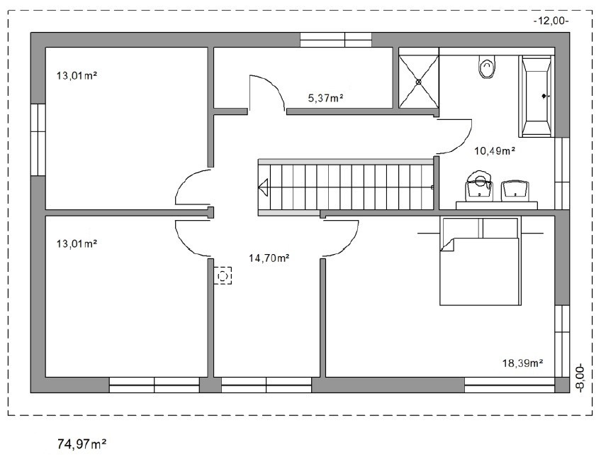 Top Plan maison 150m2 - Menuiserie CD84
