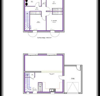 Affordable Plan Maison Cube Etage With Plan Maison Cube Images Etonnantes