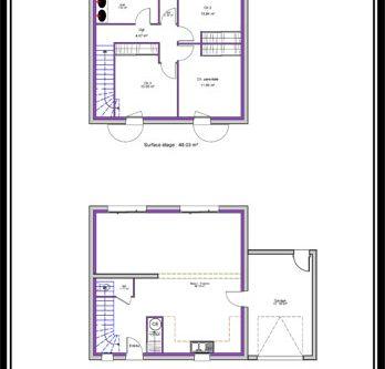 Plan Maison Cube. Stunning Plan Maison Etage With Plan Maison Cube ...
