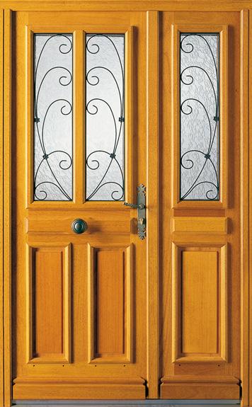 Porte double battant bois - Menuiserie