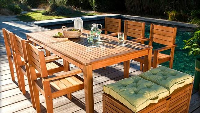 Mobilier de jardin en bois menuiserie - Mobilier de jardin bois ...
