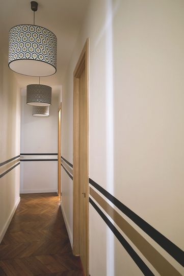 peinture couloir moderne menuiserie. Black Bedroom Furniture Sets. Home Design Ideas