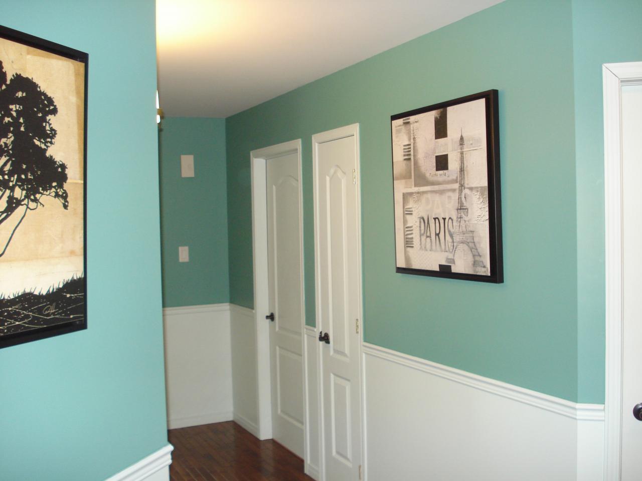 Décoration peinture couloir entrée - Menuiserie