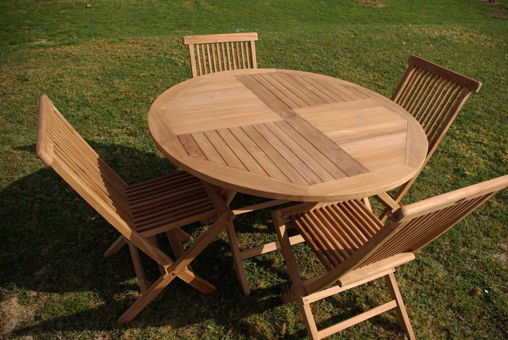 Table de jardin teck massif - Menuiserie