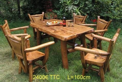 Table jardin bois massif - Menuiserie