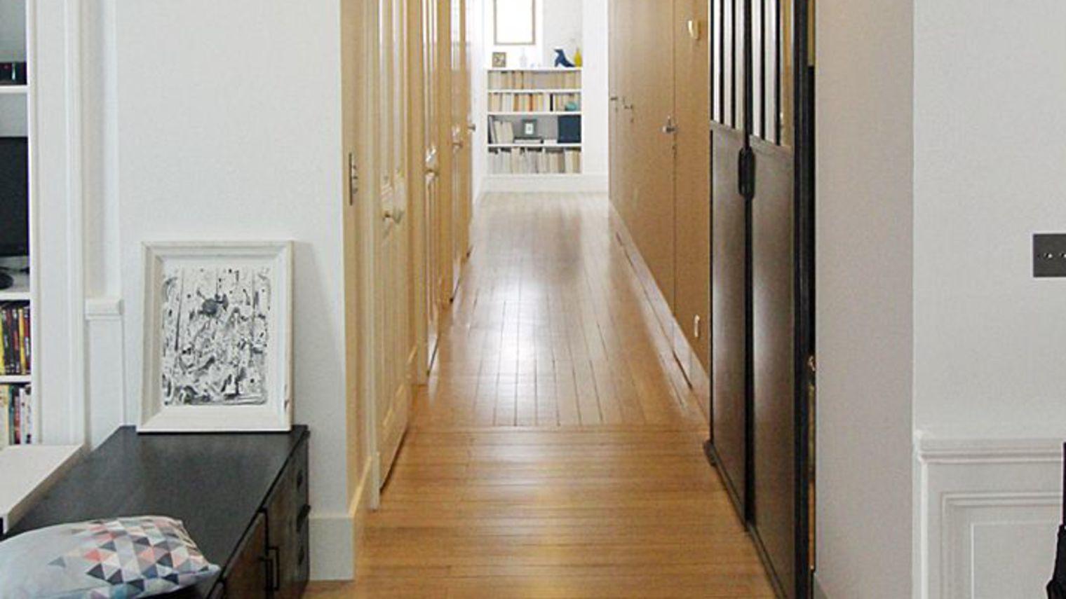 Décoration couloir entrée maison - Menuiserie