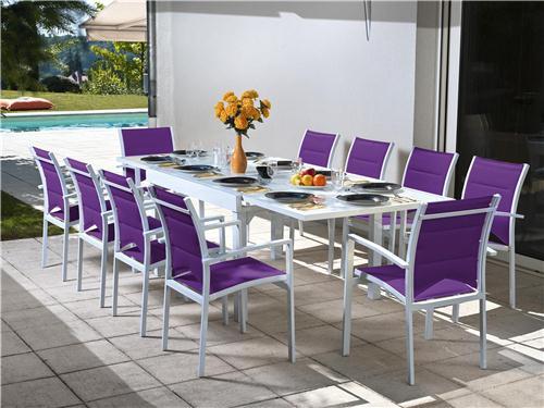 Table et chaise de jardin solde - Menuiserie