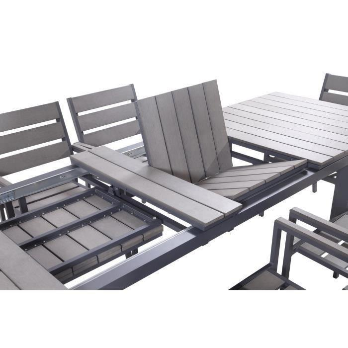 Table et chaise de jardin en aluminium - Menuiserie