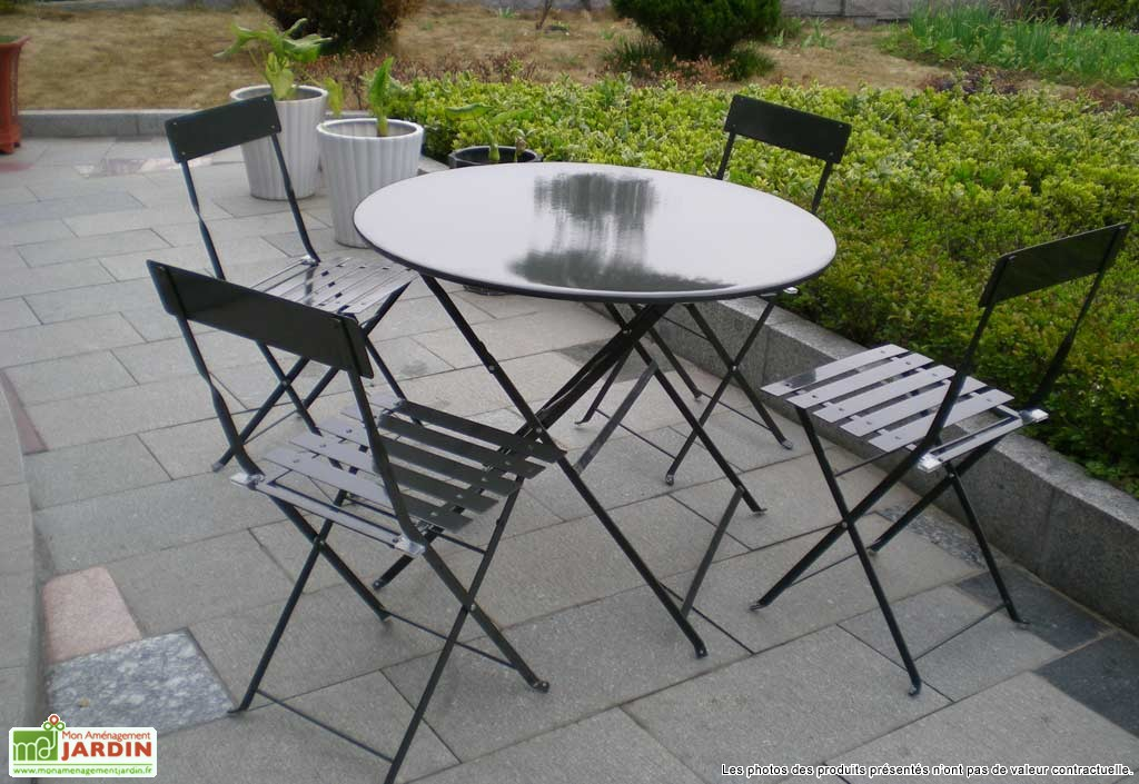 Table jardin metal ronde - Menuiserie