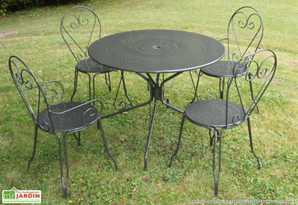 Table ronde jardin - Menuiserie