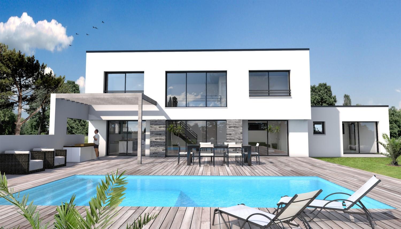 Maison moderne menuiserie for Maison de construction
