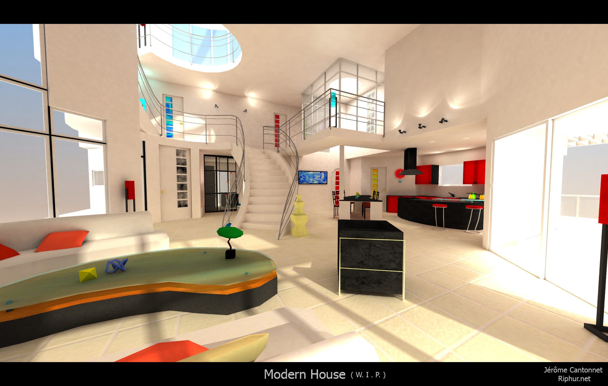 Modele interieur maison moderne - Menuiserie