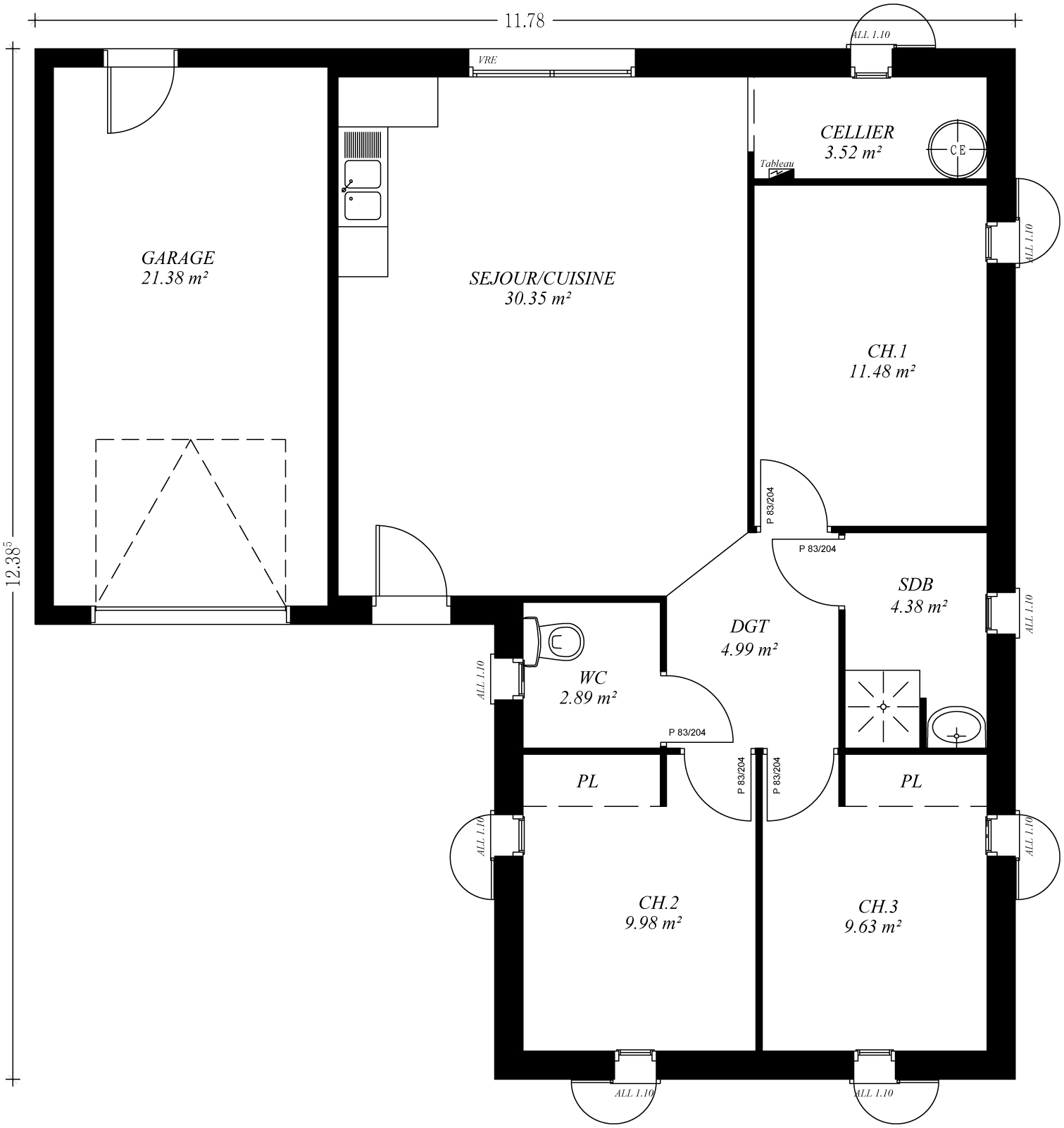 Prix construction maison plain pied - Menuiserie